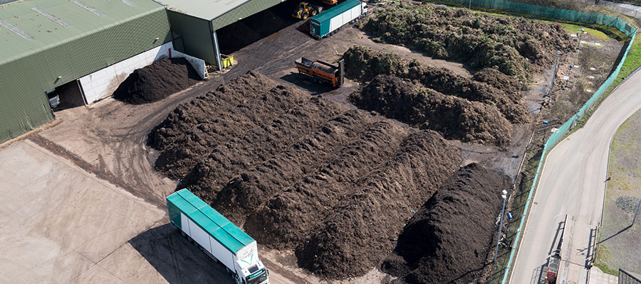 A.W Jenkinson Woodwaste Compost Wind Rows